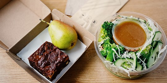 Japanese Broccoli Salad Lunch Box (gf, v)