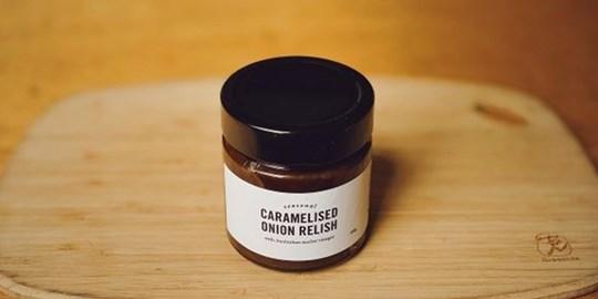 Caramelised onion relish w/ Australian Merlot Vinegar (300g)