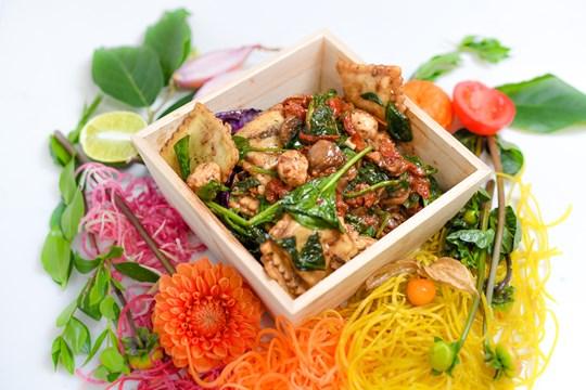 Portobello Ravioli Salad