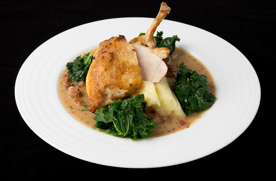 Pan-roasted guinea fowl breast