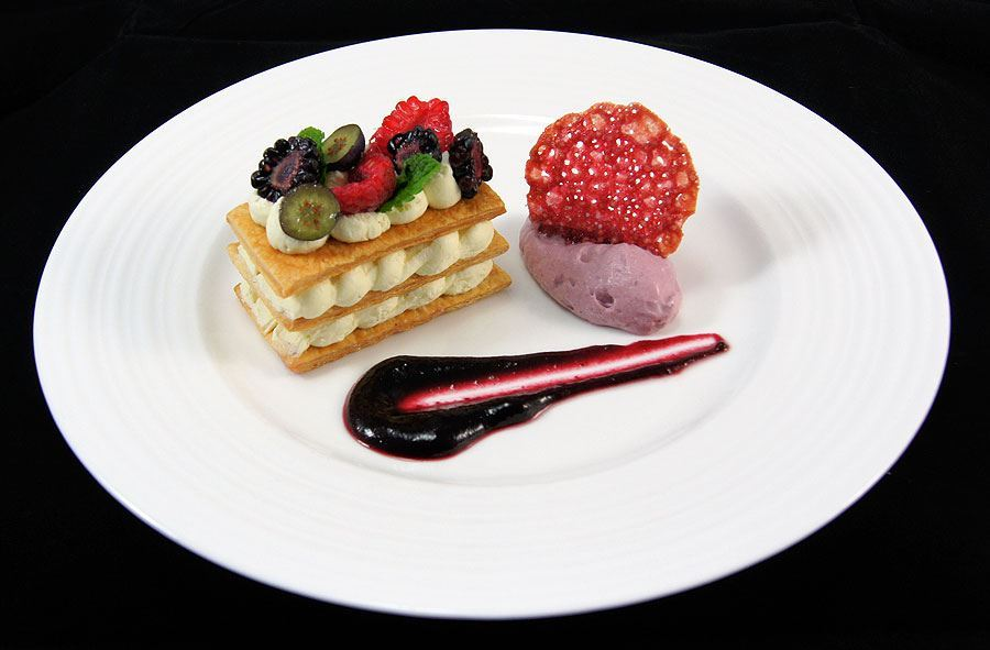 Mille Feuille of cream patisserie