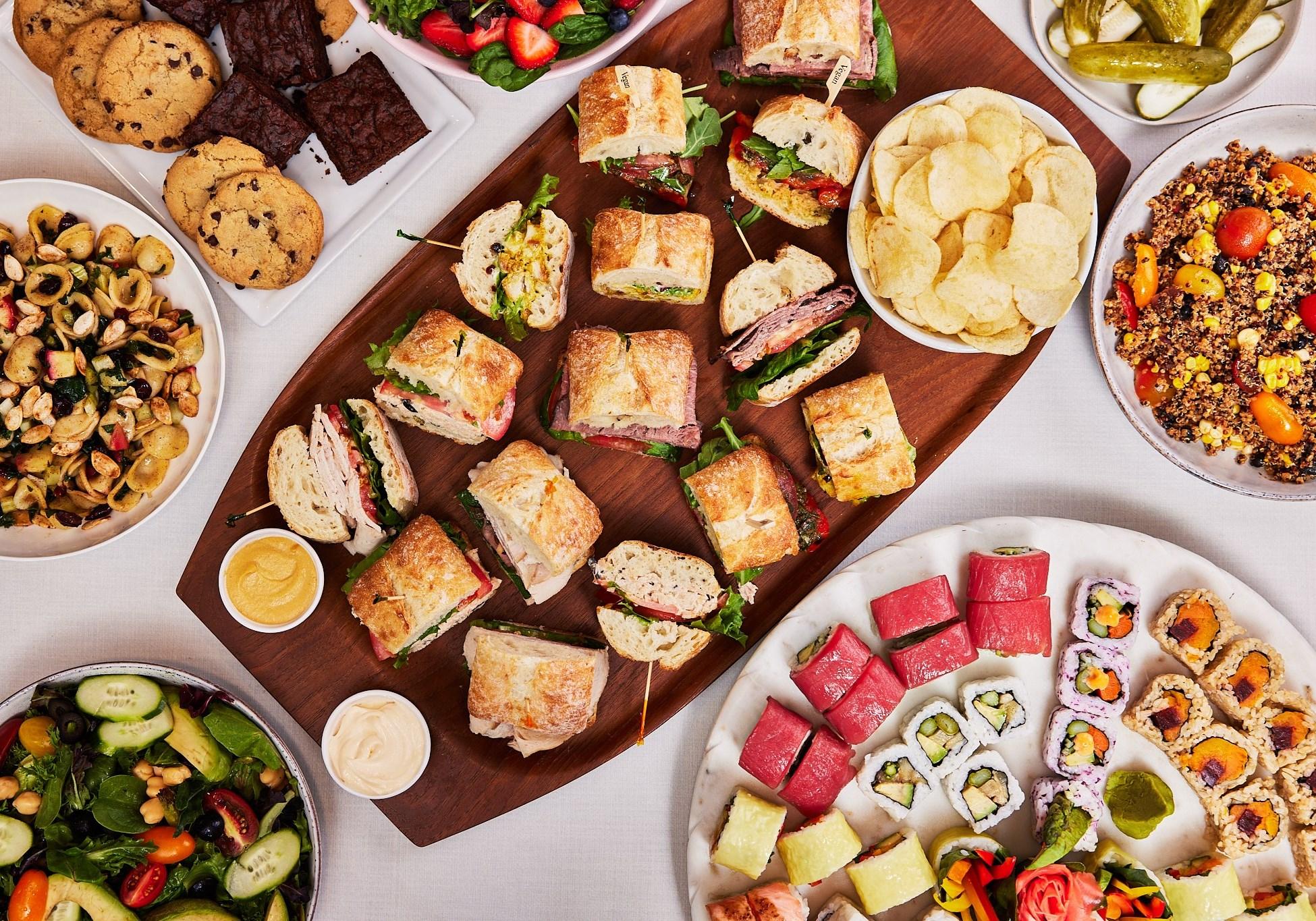 Boston Common Sushi & Sandwich Package - Vegetarian & Fish Large