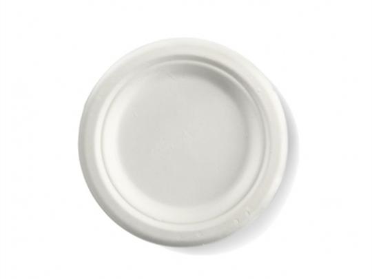Round sugarcane plate medium