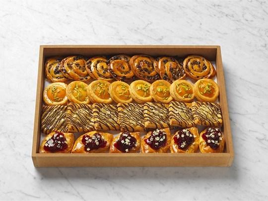 Freshly baked Danish pastries