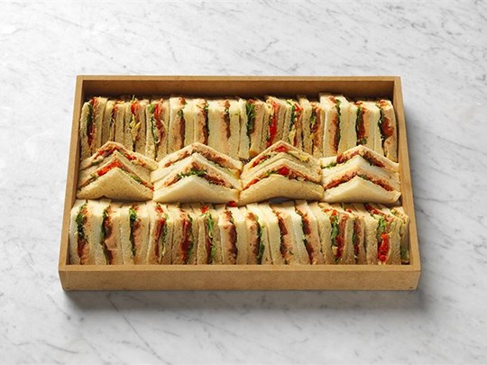 Selection of triangle sandwiches