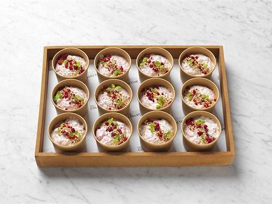 Raspberry chia breakfast pots