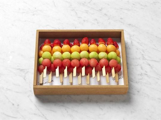 Seasonal fruit skewers