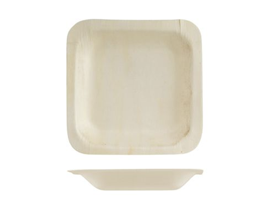 Wooden square bamboo plate