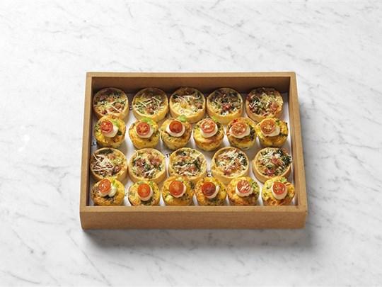 Home baked savoury tarts & frittata