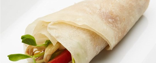 Peking Duck Crepes with plum & hoi sin sauce