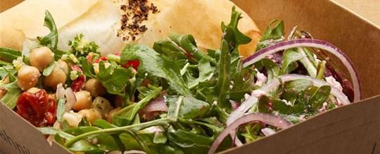Mediterannean Vegetable Filo w Salad Box - VEGAN