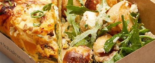 Quiche and Salad Box