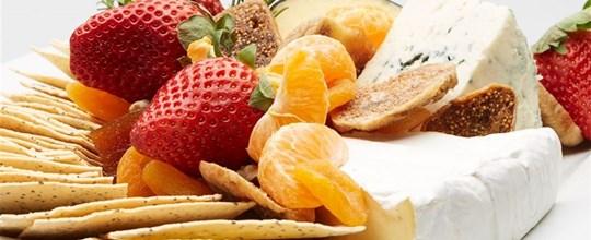 Gourmet Cheese and Fresh Fruit Platter
