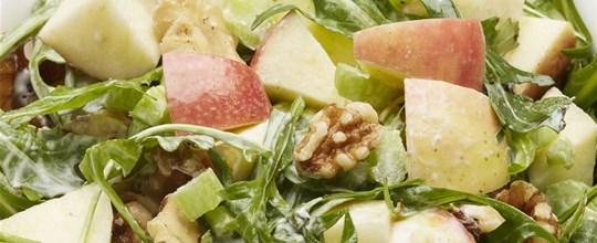 Apple, celery, walnut and roquet salad VEGAN GF