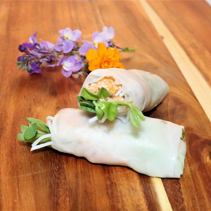 Rice Paper Rolls Vegetarian - served with sweet chilli sauce (GF) (VEGAN) (DF)