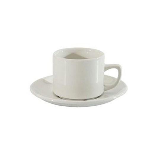 Hire - Ceramic Coffee Cup, Saucer & Teaspoon