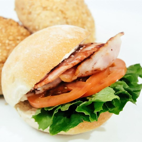 Bacon, Lettuce & Tomato Bap Roll - with mayonnaise (cold item)