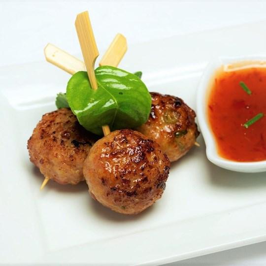 Thai Chicken Ball - with sweet chilli sauce (GF) (DF)