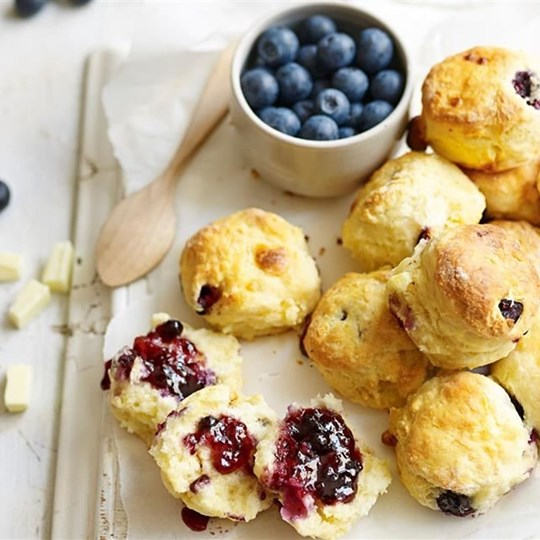 Gluten Free Blueberry and White Chocolate Scones
