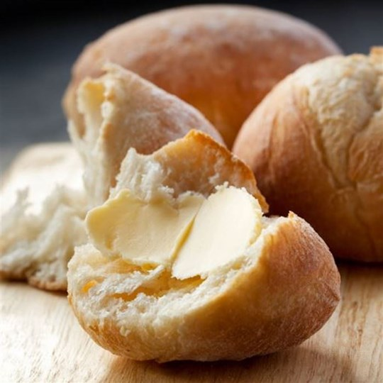 Ciabatta Roll - assorted dinner roll with a butter portion
