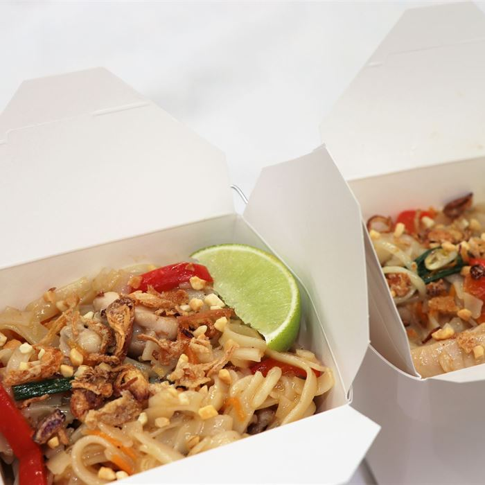 Noodle Box - Chicken Pad Thai  (served hot)