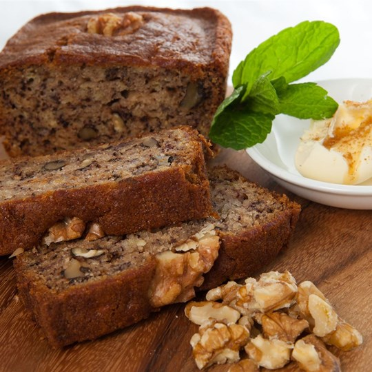 Banana Bread - with honeyed butter