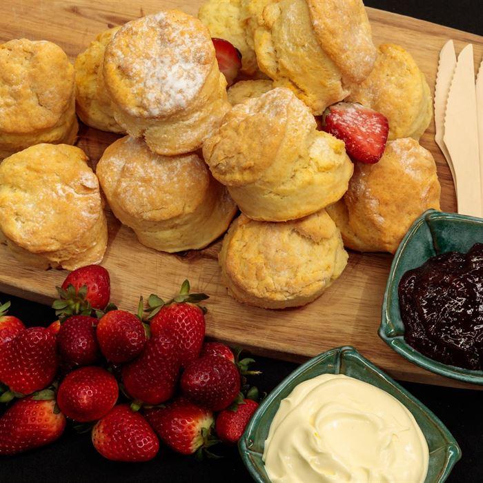 Fresh Scones - with jam and double cream