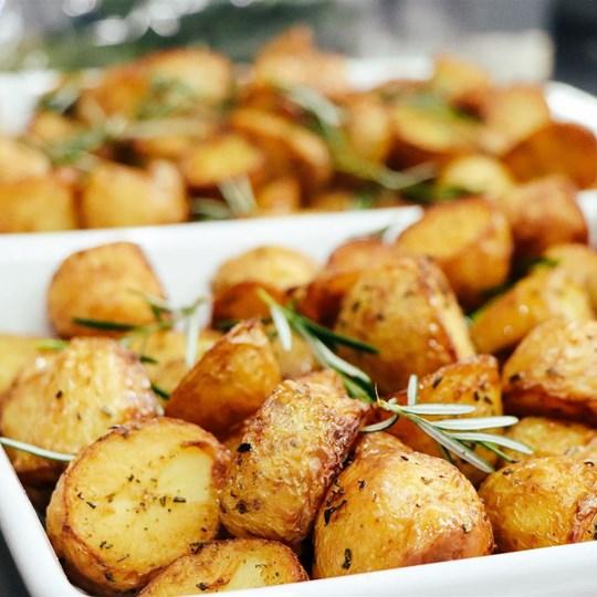 Roast Potatoes - With Rosemary and Garlic (GF)
