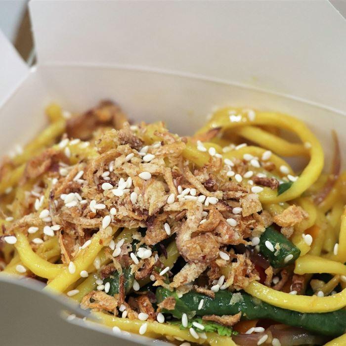 Noodle Box - vegetarian hokkien noodles (served hot)