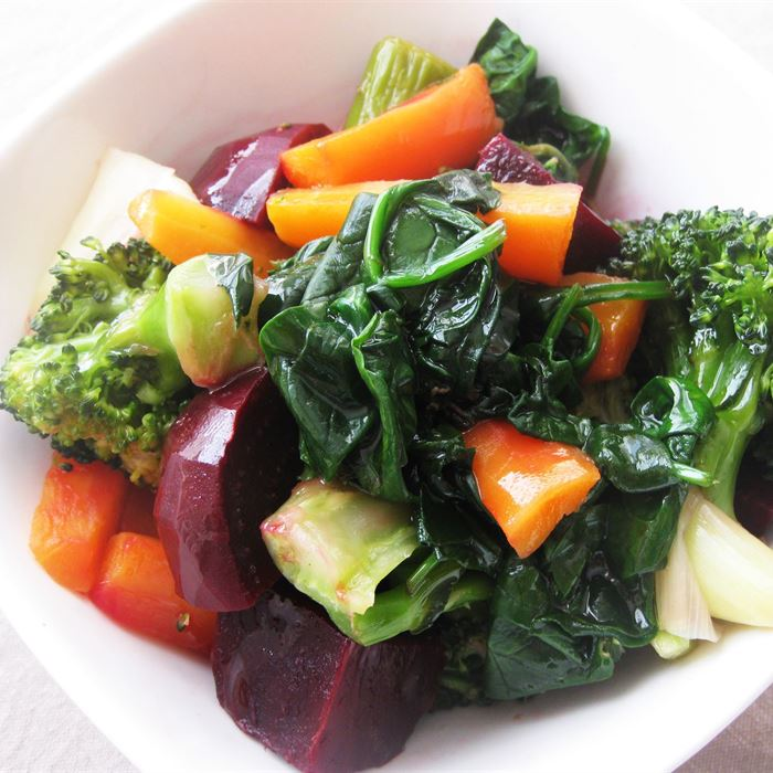Seasonal Steamed Vegetables