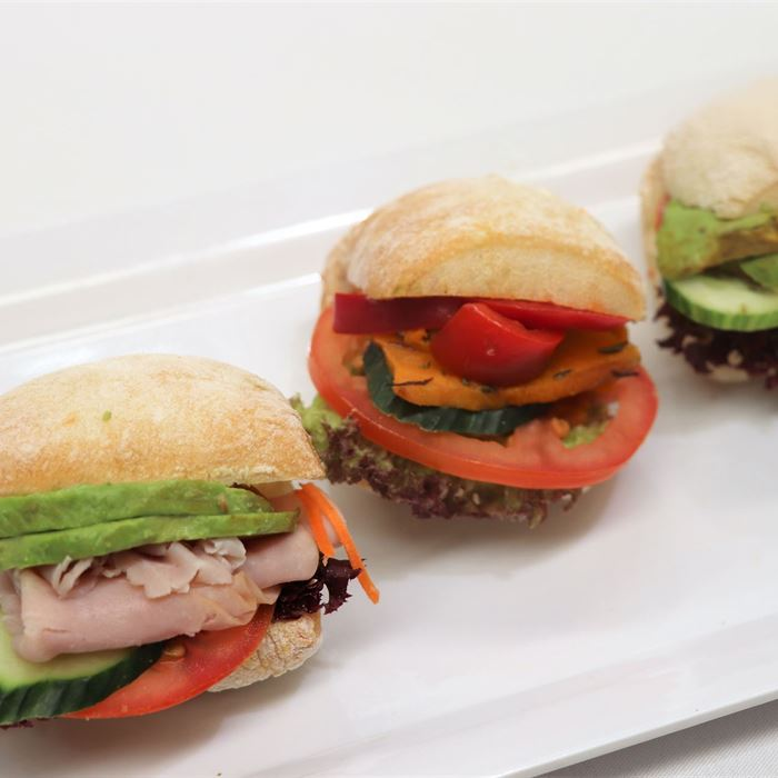 Mini Ciabatta - standard gourmet fillings.