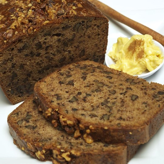 Gluten Free Banana Bread - with honey and cinnamon butter