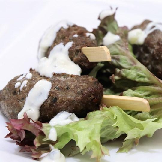 Lamb Kofta Skewer - with tahini dipping sauce (GF)