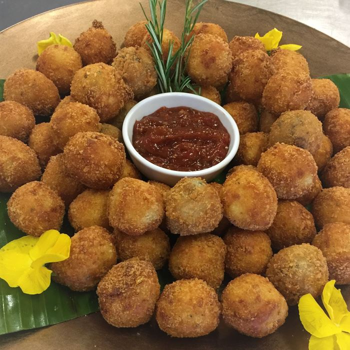 Risotto Balls (VEG) - served with tomato relish