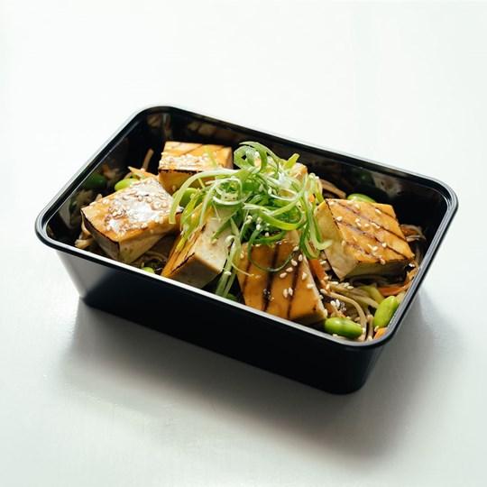 Miso Glaze Tofu & Japanese Soba Noodle with Asian vegetables (VEGAN) - Take Home Meal