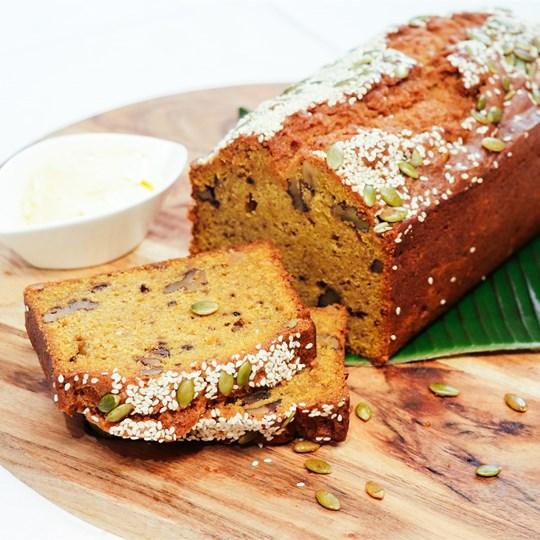 Pumpkin & Walnut Bread - with maple butter