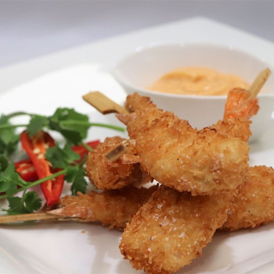 Coconut King Prawn - with thai mayonnaise