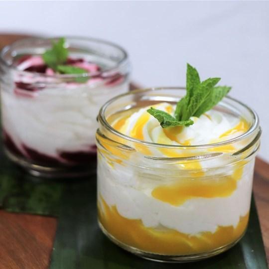 Coconut Yoghurt Cup - with fruit coulis (GF) (VEGAN)