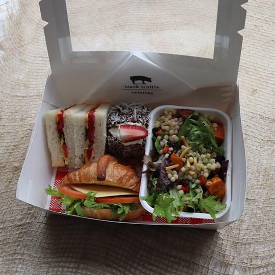 White Vegetarian Lunch Box 2