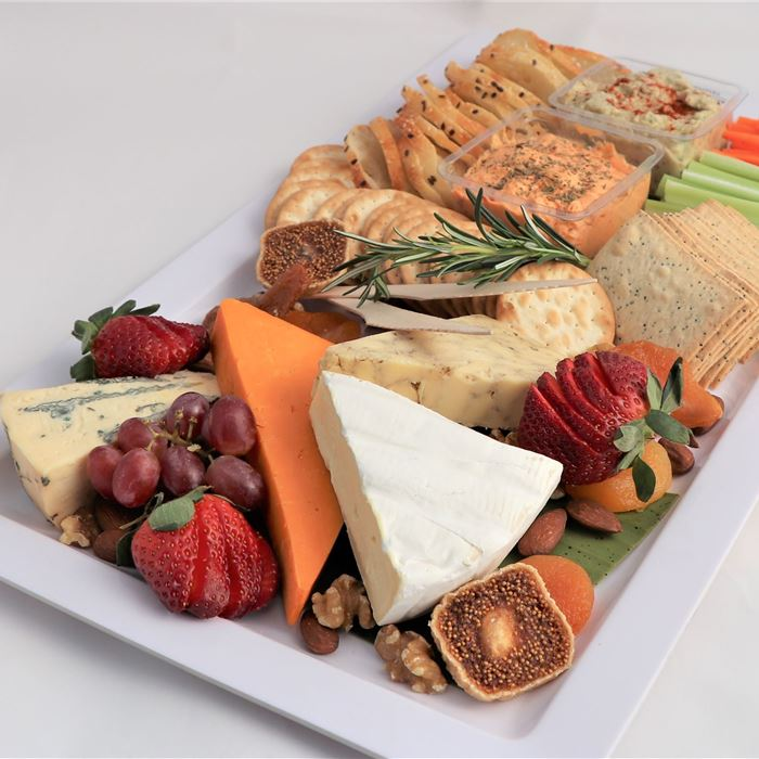 Cheese & Dip Platter - 4 cheeses & 2 Dips