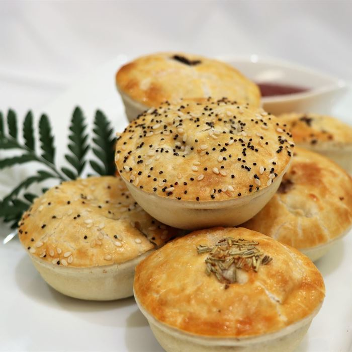 Gourmet Meat Pie - with tomato sauce