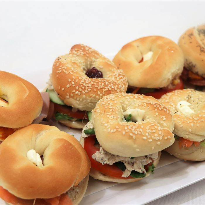 New York Mini Bagels - Including Salmon