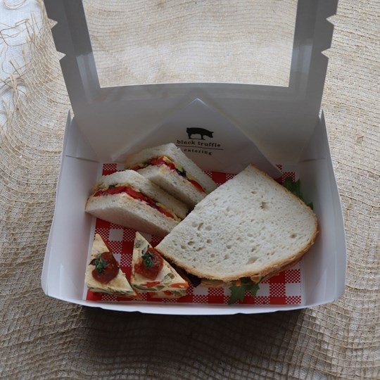 White Vegetarian Lunch Box 1