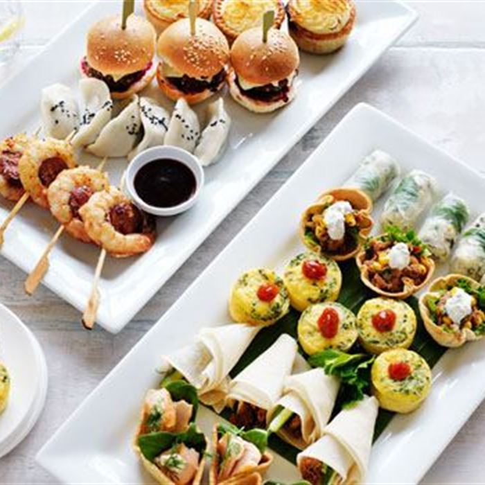 Canape packages black truffle catering for Canape menu prices