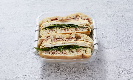 Individually packed turkey & cranberry Turkish roll