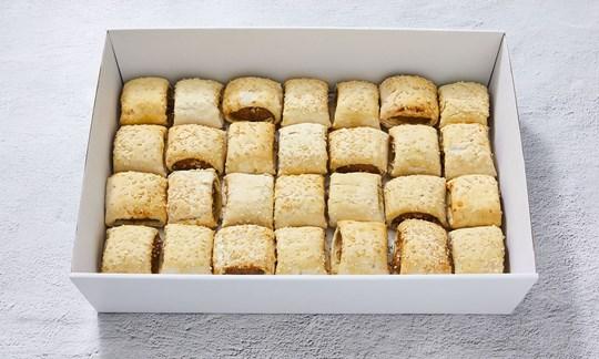 Gourmet beef mini sausage rolls