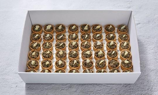 Mushroom & white truffle tarts (V)