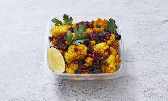 Turmeric cauliflower salad bowl (V, GF)