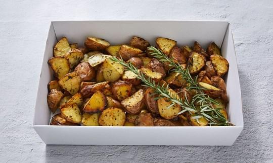 Roast potatoes with garlic & rosemary (GF)
