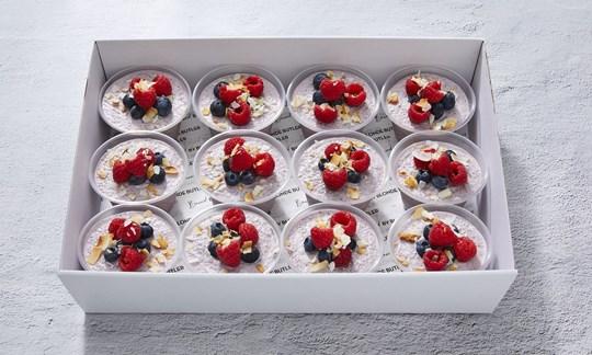 Raspberry & coconut chia pots (V, VG, GF, DF)